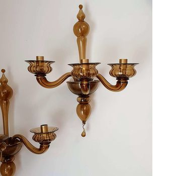 Antique 3-arm sconces