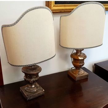 Antique golden table lamps